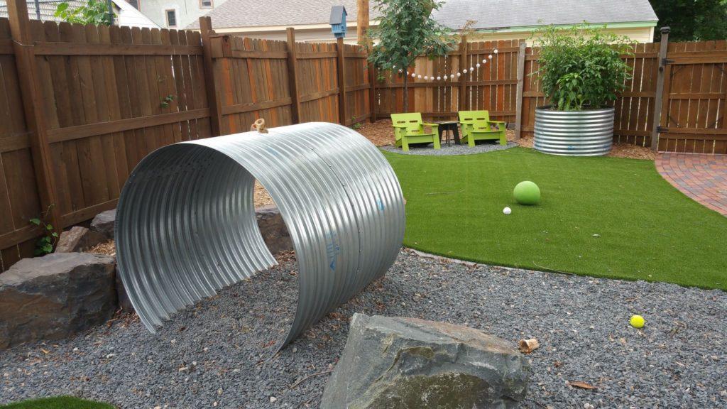 outdoor dog tunnel artificial grass